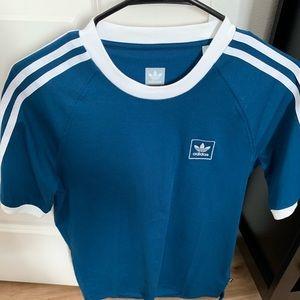Adidas 3-Stripes Black Ringer T-Shirt